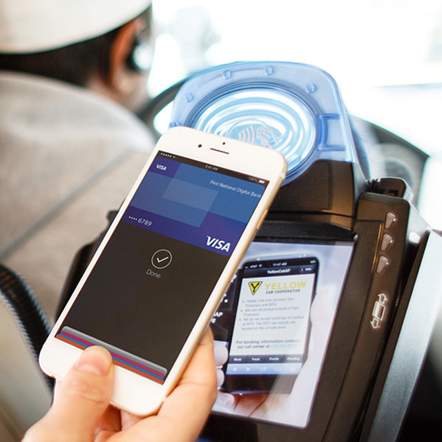 Paying cab fare with Visa