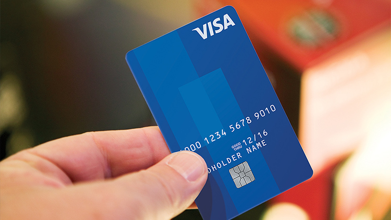 Blue Visa card