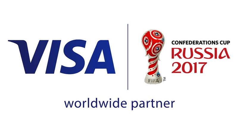 Visa Confederations Cup Russia 2017 worldwide partner logo.