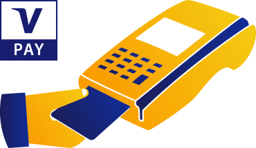 paying restaurant bill with Visa credit card